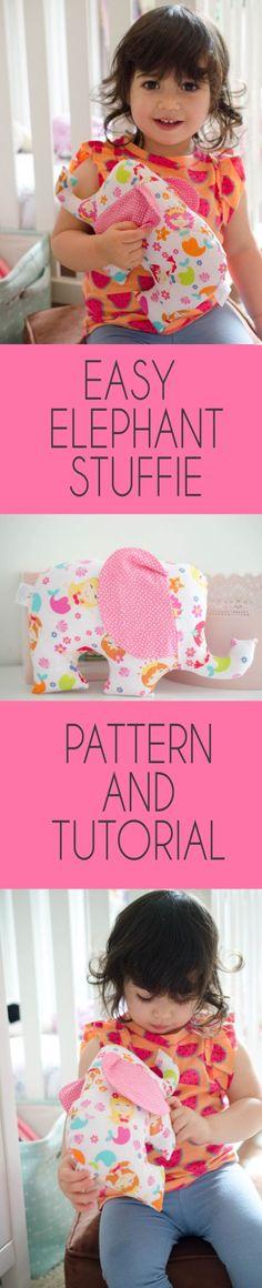 Sew Jersey Mama   Elephant Stuffie Sewing Pattern and Tutorial   Sewing Pattern   Easy Sewing Project   Sewing for Babies   Sewing for Baby   Baby Gift DIY