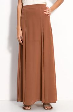 Frenchi® Half Sheer Chiffon Maxi Skirt (Juniors) | Nordstrom