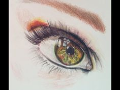 ▶ Drawing a Realistic Eye with Derwent Colored Pencil (Time Lapse) - YouTube