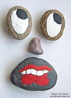 Stony Face painted rocks