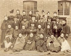 Leicester workhouse elderly inmates, c.1890.