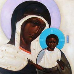 Theotokos icon by Greta Lesko