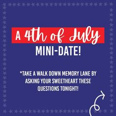 Last minute 4th of July mini date for couples #4thofjuly #datenight Patriotic Party, Dating Divas, Focus On Yourself, Last Minute, Family Traditions, 4th Of July, This Or That Questions, Couples, Mini