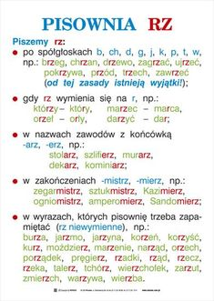 ortografia i gramatyka - kas. Polish To English, Learn Polish, Polish Language, Gernal Knowledge, School Subjects, School Notes, Study Motivation, Study Tips, Teaching English