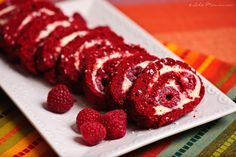 Red velvet cake roll - would be just as easy as my pumkin rolls, totally trying this for Valentine's Day w/ Rico!