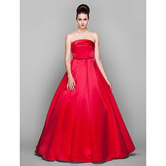 TS Couture Formal Evening / Prom / Military Ball Dress - Ruby Plus Sizes / Petite Ball Gown Strapless Floor-length Satin – USD $ 109.99