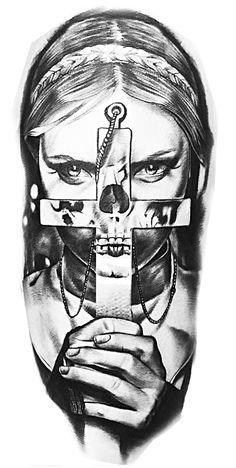 Freira Skull Line Art Tattoos, Tattoo Drawings, Art Drawings, Tatoos, Day Of The Dead Girl, Heaven Tattoos, Black Ink Art, Weird Art, Horror Art