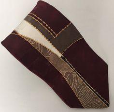 Oleg Cassini Tie 100% Silk Made In USA Burgundy Brown Blue Men's Necktie #OlegCassini #NeckTie
