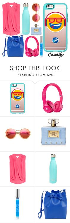"""""""I am HAPPY With Music! """" by casetify ❤ liked on Polyvore featuring Casetify, Beats by Dr. Dre, Wildfox, Versace, Velvet, S'well, CLEAN and Mansur Gavriel"""