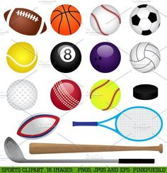 free sports clipart for parties crafts school projects websites rh pinterest com free clip art sports borders free clip art sports borders