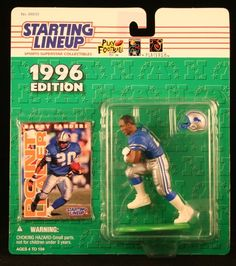 BARRY SANDERS  DETROIT LIONS 1996 NFL Starting Lineup Action Figure  Exclusive NFL Collector Trading Card -- For more information, visit image link.Note:It is affiliate link to Amazon.