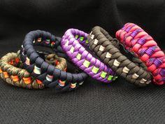 Fishtail Weave Paracord Bracelet with Stripe
