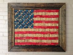 American flag made from wine corks - perhaps my next cork creation?!?!