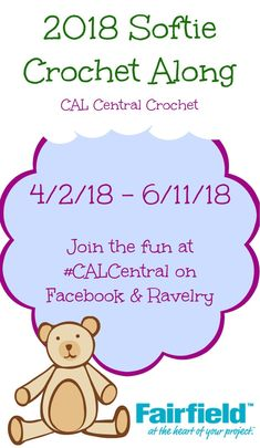Announcing the CAL Central Softie Crochet Along 2018 on Underground Crafter | Whether you're a softie crocheting pro or a newbie who hasn't yet crocheted your first softie, join the CAL Central Softie Crochet Along for 10 free crochet patterns by 10 designers and the chance to win end-of-CAL giveaway prizes from Fairfield World, Ida Herter, Global Backyard Industries, and Morgan's Mane.