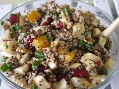 apple feta quinoa salad with cranberries and walnuts