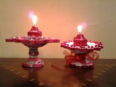 Best Out Of Waste Paper Candle and Diya Stand - YouTube
