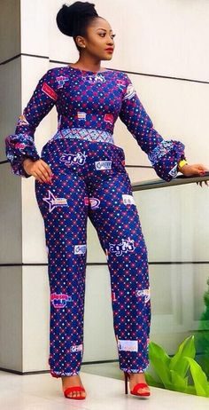 African fashion jumpsuit, African fashion, Ankara, kitenge, African women dresse… Remilekun - African Styles for Ladies African Print Jumpsuit, Ankara Jumpsuit, African Print Dresses, African Dresses For Women, African Wear, African Attire, African Women, African Prints, Jumpsuit Style
