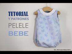 DIY Tutorial y patrones gratis: Pelele para bebé   Manualidades