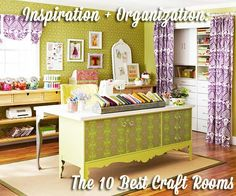 Inspiration + Organization: The 10 Best Craft Rooms