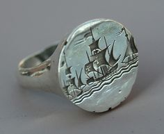Caravelle Seal Ring by Blind Spot Jewellery, via Flickr
