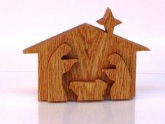 Nativity Scene 3D on Etsy, $133.33