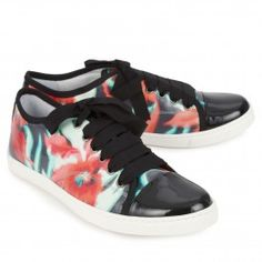 Lanvin Printed coated cotton trainers