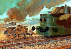 Cavalry defense at Mokra, 1 September 1939 Military Art, Military History, Steampunk Armor, Panzer Ii, Railway Gun, Invasion Of Poland, Old Trains, Modern Warfare, Dieselpunk