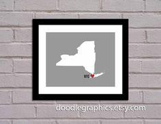 I Love New York City  Art Print  New York State by DoodleGraphics, $14.00