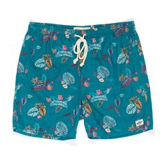 Mens Boardshorts, Baywatch, Swim Shorts, Surface Design, Trunks, Teal, Swimming, Illustration, Swimwear