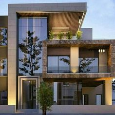 ✔ 39 new modern exterior design ideas for your house 20 > Fieltro. Modern Exterior House Designs, Dream House Exterior, Modern Architecture House, Sustainable Architecture, Modern House Design, Exterior Design, Architecture Design, Innovative Architecture, Exterior Signage