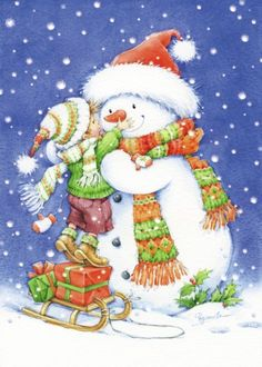 Free Ship Christmas Snowman and Boy Diamond Embroidery DIY Needlework Diamond Painting Cross Stitch Rhinestones Mosaic Snowman Clipart, Christmas Clipart, Vintage Christmas Cards, Christmas Printables, Xmas Cards, Christmas Greeting Cards Sayings, Christmas Greetings, Christmas Scenes, Christmas Pictures