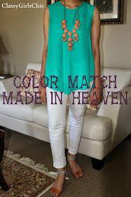 Classygirlschic: Color Match Made in Heaven