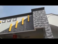 Design Discover House front Elevation colour Painting design ideas for exterior walls House Front Wall Design, Single Floor House Design, Exterior Wall Design, House Outside Design, Exterior Tiles, Village House Design, Exterior Front Doors, House Paint Exterior, Small House Design