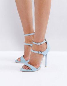 0e2d36d9086 Public Desire Blue Strappy Heeled Sandals