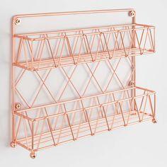 Copper Wire 2 Tier Spice Rack - Welcome My Decor Diy Kitchen Storage, Kitchen Organization, Room Ideas Bedroom, Bedroom Decor, Gold Room Decor, Kitchen Design, Kitchen Decor, Kitchen Ideas, Kitchen Supplies