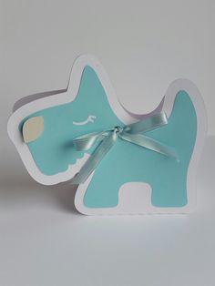 Envoltorio para souvenir diseño perrito.