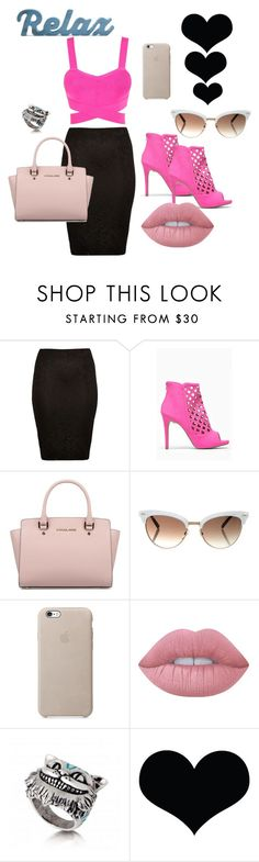 """P!NK"" by dzenita-2190 on Polyvore featuring moda, River Island, Michael Kors, Gucci i Lime Crime"