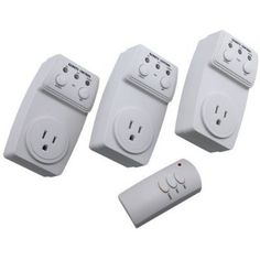 Best selling of Wireless Remote Control Outlet Switch Socket 3 Pack (3 Outlets) * BATTERY INCLUDED *
