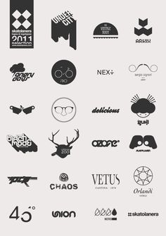 LOGOS & LOGOTYPES SELECTION #2 by enrico bevere, via Behance