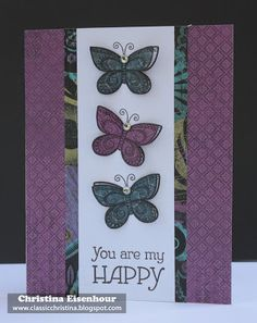card by Christina Eisenhour using CTMH Laughing Lola paper