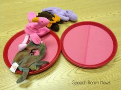 Speech Room News: Catch a Flamingo: Use these velcro mits and mini beanie babies = the most fun speech therapy EVER!!!!!