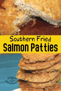 Salmon Patties fried thin and crispy with a touch of Cajun seasoning to bring out the flavor. Easy, old fashioned recipe. We include tips for deboning canned salmon. #dinneridea #nobakedinner Onion Recipes, Pork Recipes, Crockpot Recipes, Fried Salmon Patties, Holiday Recipes, Dinner Recipes, One Dish Dinners, Old Fashioned Recipes, Cajun Seasoning