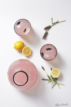 The perfect summer sipper: Lavender infused lemonade.