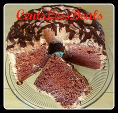 Cocoa Chiffon Cake..... Light & Fluffy.. almost like an chocolate angel food cake ... Great for spring & summer desert.