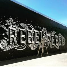 Rebel Rebel  . From a beautiful type work by @mrseaves101 __ Featured by @thedailytype #thedailytype Learning stuffs via: www.learntype.today __ by thedailytype