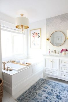 Prescott View Home Reno: Master Bathroom Reveal - Classy Clutter - This is a sponsored conversation written by me on behalf of Floor & Decor. The opinions and text ar - Bad Inspiration, Bathroom Inspiration, Home Decor Inspiration, Bathroom Ideas, Bathroom Goals, Bathroom Remodeling, Remodel Bathroom, Bathroom Colors, Bathroom Photos