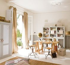 An amazing safari-themed room for children, incorporating bedroom, study and playroom. View 2