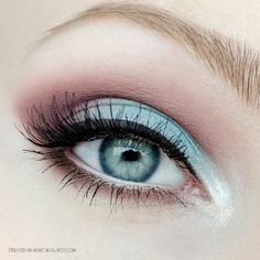Pretty blue and pink