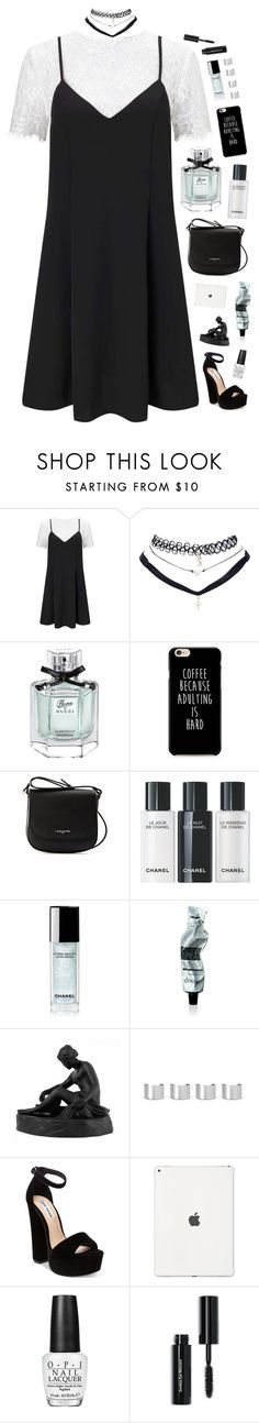 """""""i'm not that kinda girl to easily get hurt"""" by silvanacavero ❤ liked on Polyvore featuring Miss Selfridge, Wet Seal, Gucci, Lancaster, Chanel, Aesop, Wedgwood, Maison Margiela, Steve Madden and OPI"""