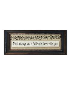 Take+a+look+at+the+'I+Will+Always+Keep'+Framed+Wall+Art+on+#zulily+today!
